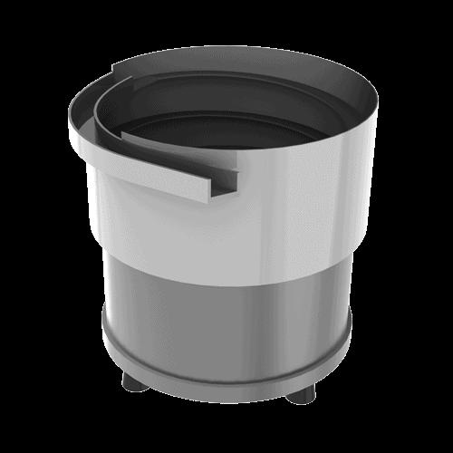 Unités de positionnement vibrantes Vibreur circulaire + cuve cylindrique