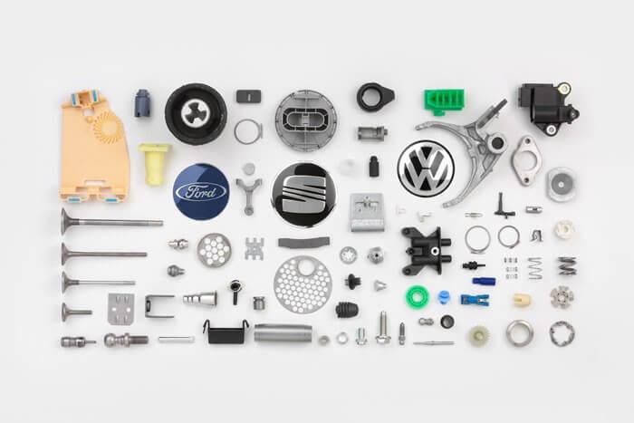 peças automotivas feitas com sistemas elétricos