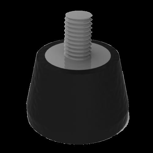 Suportes elásticos para vibradores